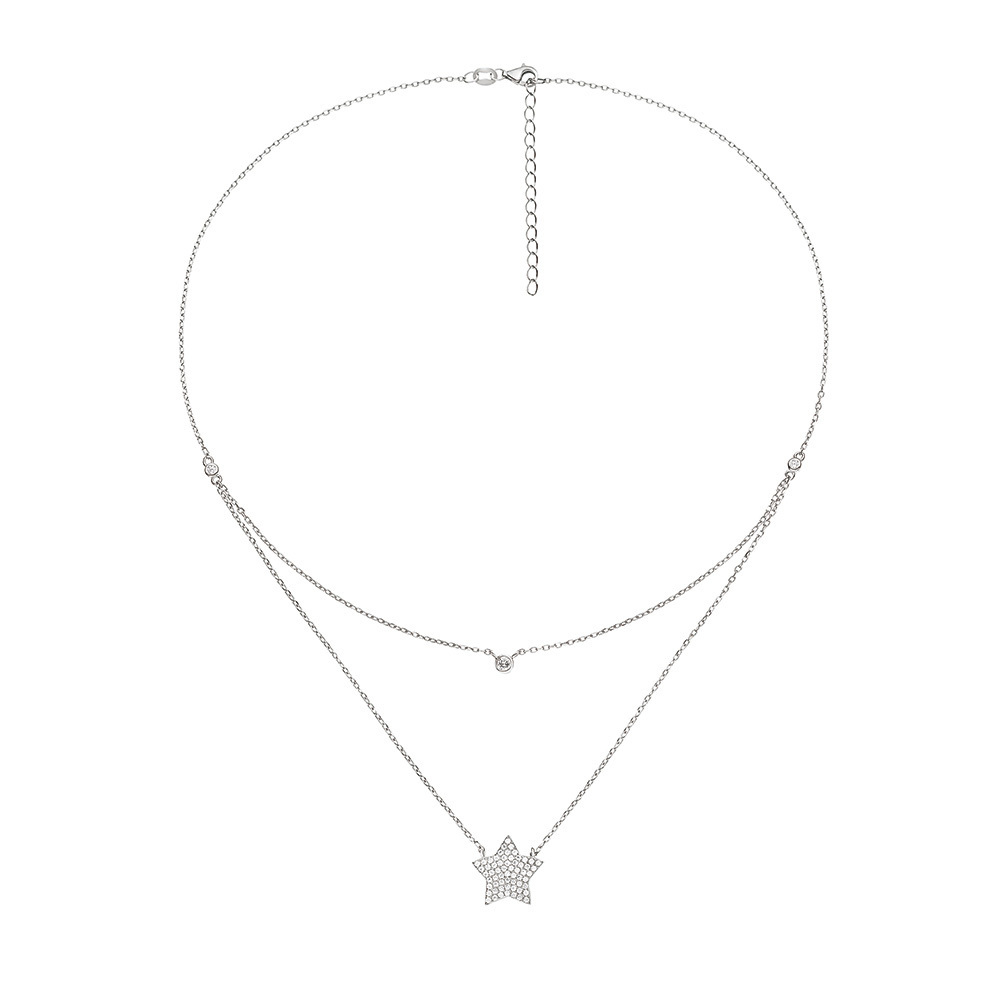 Folli Follie(フォリフォリ)FASHIONABLY SILVER STARRY SKY NECKLACE.jpg