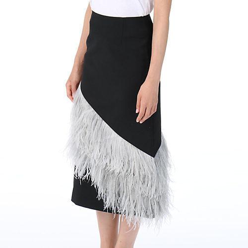 LE CIEL BLEU (ルシェルブルー)フェザータイトミディスカート.jpg