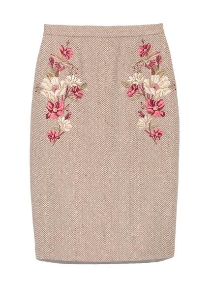 Lily Brown (リリーブラウン) フラワー刺繍スカート.jpg
