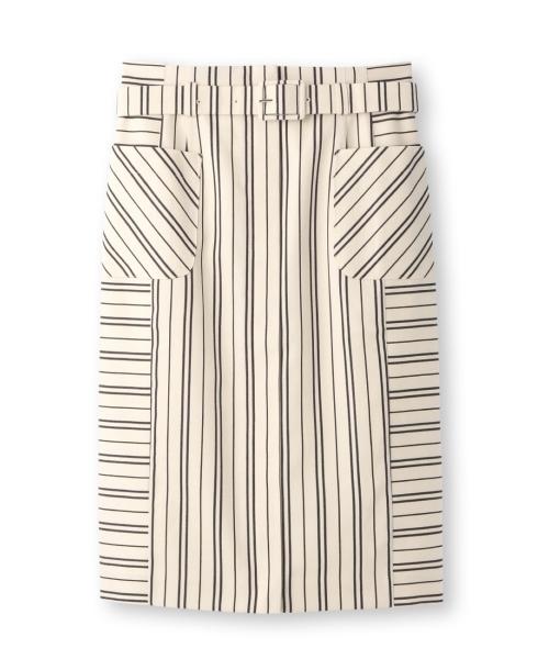 UNTITLED(アンタイトル)ベルト付ストライプタイトスカート.jpg
